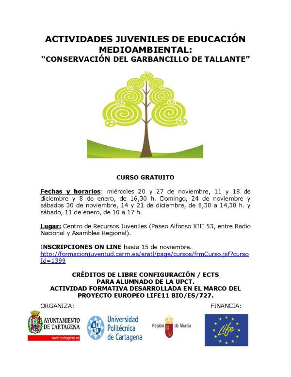 Cartel curso Garbancillo