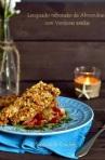 11. Lenguado rebozado de almendras con verduras asadas
