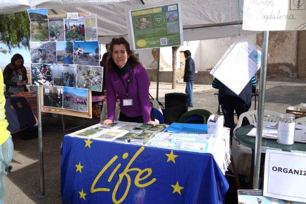 Stand del Proyecto LIFE+ Garbancillo