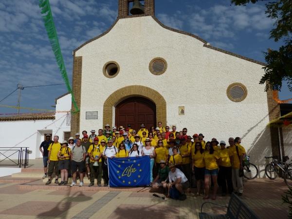 Participantes en la II Ruta ciclosenderista por el hábitat del Garbancillo de Tallante