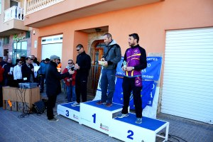 10k6, Cat. master. 1º Jorge Gutierrez López, 2º Francisco José Bermejo y 3º Sergio Quesada. Entrega Juan José Martinez Sánchez de la ECUGA