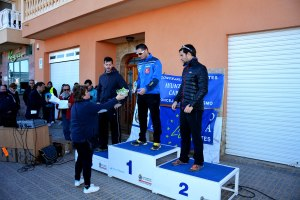 10k6 Cat. senior masculino, 1º Basilio Galindo,  2º Adrian Perez y 3º  Tomás López. Entrega premio Chenchi, de la AAVV de La Aljorra