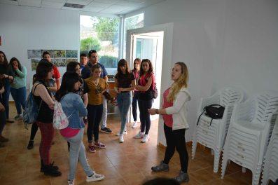 Marta Armero cuenta a los Corresponsales Regionales de la Región de Murcia la presencia en la zona de garbancillo de Tallante