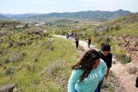 Los corresponsales durante la ruta volcánica por los Pérez Bajos, hábitat del garbancillo de Tallante