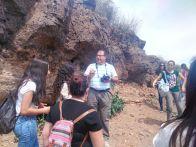 Esteban Jordan, colaborador de LIFE garbancillo durante la charla sobre los volcánes en la zona oeste de Cartagena