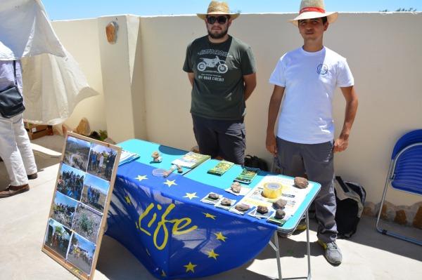 Stand del Proyecto LIFE Conservastragalus y ECUGA