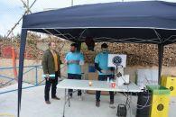 Coordinador del Proyecto LIFE Conservastratragalus-MU con responsables de Canana L.A. Brewpub