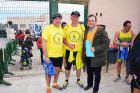 Participantes en la carrera con la camiseta del garbancillo de Tallante, elaborada especialmente para el evento